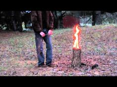 He Cuts Into This Single Log To Create The Perfect Tool For Camping - NewsLinQ