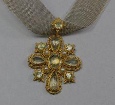 Georgian Gold Chrysolite Pendant Circa 1820