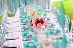 I Party, Party Ideas, Kids Party Tables, Under The Sea Party, Mermaid Birthday, Event Design, Birthday Parties, Victoria