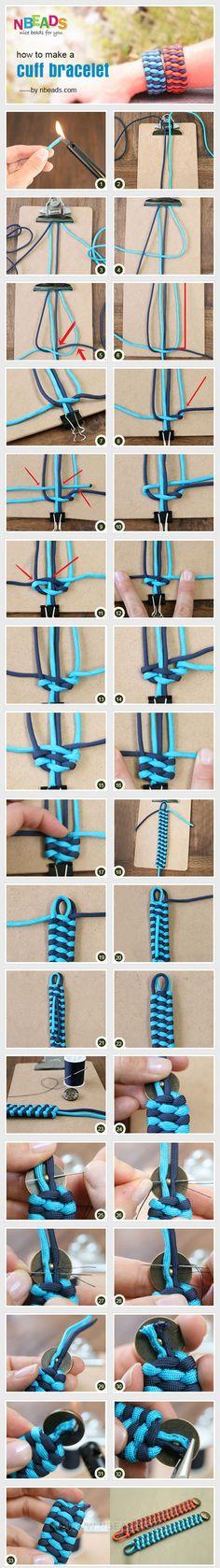 Dense Wide simple hand rope bracelet handmade diy production