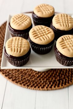 Peanut Butter Cookies ......  Chocolate Cupcakes with Peanut Butter Cookie Frosting by annieseats on flickr.com