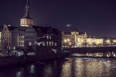This is night. Prague Czech Republic, Old City, Louvre, Explore, Night, Dark, Building, Places, Travel