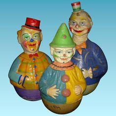 Antique Papier-Mache Dolls for sale Jack In The Box, Vintage Clown, Vintage Toys, Vintage Stuff, Retro Vintage, Antique Toys, Vintage Antiques, Kitsch, Circus Crafts