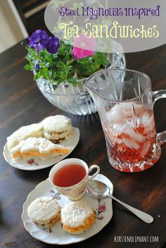 Three kinds of Southern-style tea sandwiches: pimento cheese, cucumber, and strawberry-basil with balsamic reduction. Cucumber Tea Sandwiches, Tea Party Sandwiches, Autumn Tea, Steel Magnolias, Balsamic Reduction, Easy Homemade Recipes, How To Make Tea, Vegetarian Cooking, Tea Recipes