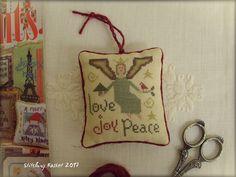 Christmas Angel/Stitching Basket ~ Midsummer Night Designs – Christmas Angel (Just Cross Stitch Special Christmas Issue 2007)