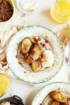 Caramelized Banana Oatmeal Breakfast | Joy the Baker
