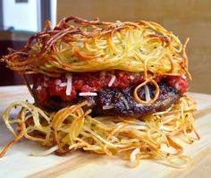 Most outrageous burgers: spaghetti burger