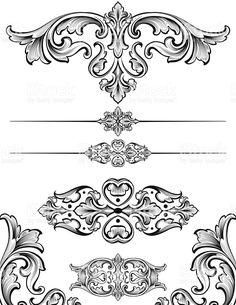 Vintage Scroll Symmetry royalty-free stock vector art