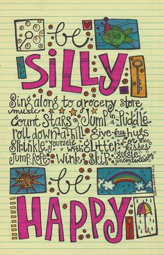 Be Silly original illustration by persimmonsgal on Etsy, $40.00