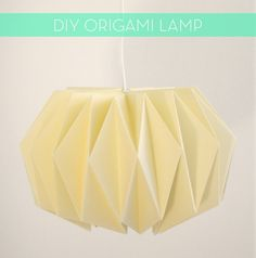 origami lamp. Make two for bedroom instead of bed side table lamps....or one big one for corner of living room