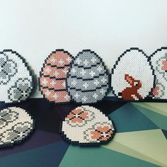 Perler beads easter eggs