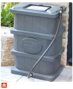 Easy installation and a compact design, this flat back rain barrel is the perfect addition to any garden Growing Greens, Rain Barrel, Gardening Tools, Compost, Flat, Easy, Design, Bass, Rain Water Collector