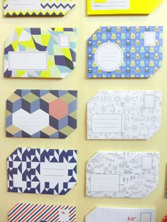 Papier tigre at Maison et Objet Jan 2013 pretty envelopes for snail mail