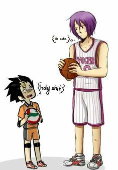 Ahahhah, Noya-san look like a dwarf before Atsushi.. (and they're accidentaly  both my fave characters from Haikyuu! and KnB)