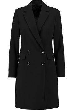 THEORY Adair double-breasted wool-blend twill coat. #theory #cloth #coat