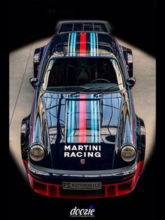 For decades, the Martini racing colors were seen on all types of sportscars in all types of races, from endurance to sprint. You can get a short and very complete education in branding just by seeing how well the Martini racing colors were applied to all the cars they sponsored. Classic.