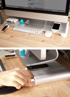 Keep your desk extra organized with the Space Bar + other space saving items.....