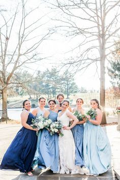 7d4fe2c5634c0 Blue Bridesmaid Dresses from David's Bridal Lieb Photographic Blue  Bridesmaids, Blue Bridesmaid Dresses, Bridesmaid