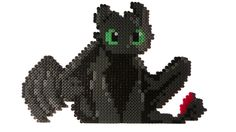 Toothless Made from Perler beads by Painting-Caro