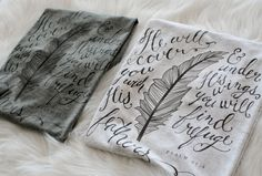 Beautiful! Soft Fitted Ladies T-shirt, Psalm 91:4, Feathers, FS86-1002