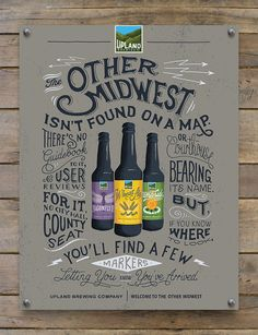 Upland Brewing Co. on Behance: designed by www.bmddesign.fr
