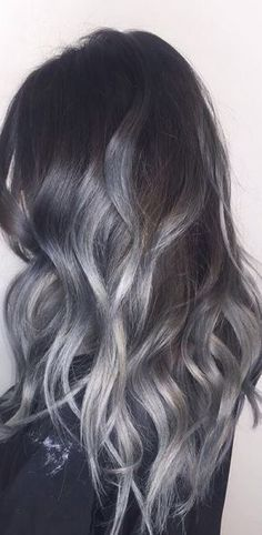 Silver/grey hair colour
