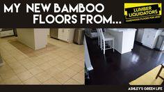 Ashley's Green Life: My New Dark Bamboo Floors from Lumber Liquidators Bamboo Hardwood Flooring, Oak Laminate Flooring, Real Wood Floors, Plank Flooring, Vinyl Wood Planks, Wood Vinyl, Vinyl Storage Sheds, Lumber Liquidators