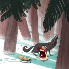 My Little Red Riding Hood by Meridth Gimbel.   Little Red was based on the indigenous kids from the Nenet Tribe up in the Siberian Arctic. Research is fun. :)