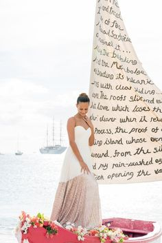 DIY Boat Sail Wedding Vows - http://fabyoubliss.com/2015/06/23/diy-boat-sail-wedding-vows-ceremony-backdrop