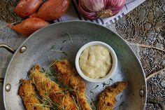 Poulet pané sauce au Maroilles