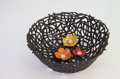 Black ceramic serving bowl  orginal  by hamutalbenjoceramics Black ceramic serving bowl , orginal , Medium ceramic fruit bowl $85.00