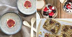 10 nejoblíbenějších receptů s chia semínky Raw Food Recipes, Nom Nom, French Toast, Oatmeal, Smoothie, Menu, Pudding, Breakfast, Healthy