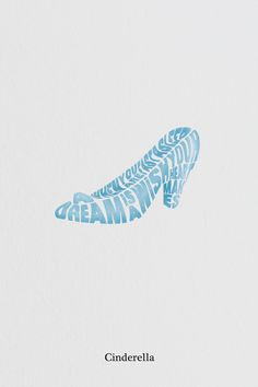 Typographical tribute to Disney by Laurent Ferrante, via Behance New Cinderella Movie, Cinderella Slipper, Cinderella 2015, Disney Pixar, Walt Disney, Graphic Design Typography, Disney Typography, Have Courage And Be Kind, Disney Artwork