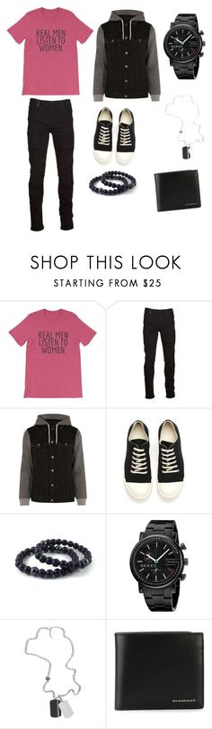 """""""Untitled #49"""" by raylynn18 ❤ liked on Polyvore featuring Marcelo Burlon, River Island, DRKSHDW, Gucci, Diesel, Burberry, men's fashion and menswear"""