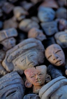 Teotihuacan, 06112, Mexico, INAH, figurines, ceramic   Copyright:Kenneth Garrett