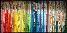 dr suess books chromatically arranged