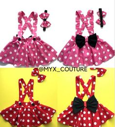 Minnie Mouse birthday outfit Red Pink polka dots criss cross suspenders circle SKIRT ONLY, with a matching hairbow, Baby infant toddler girl Minnie Mouse birthday outfit Red Pink polka dots criss cross image 6 Minnie Mouse Birthday Outfit, Mouse Outfit, Minnie Mouse Party, Minnie Mouse Clothes, Disfraz Minnie Mouse, Criss Cross, Black Leotard, Suspender Skirt, Flutter Sleeve Top