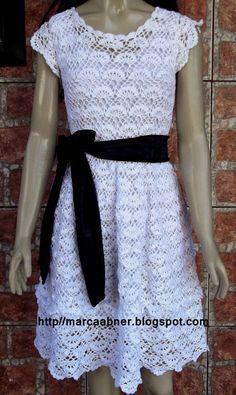 Marcinha crochet: crochet dress with charts