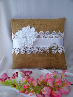 Ring Bearer Pillow for Weddings  Burlap Ring by MyBurlapStudio, $22.00