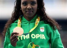 Medal - Dibaba, Tirunesh - Athletics - Ethiopia - Women's 10,000m - Women's 10,000m - Olympic Stadium