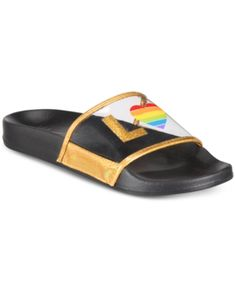 I.n.c. Rainbow Love Slide Slipper, Created for Macy's - Love