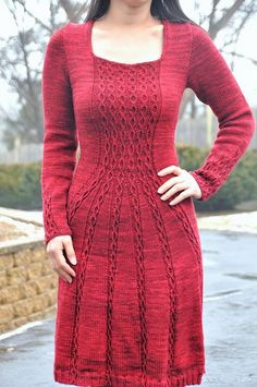 knit red dress