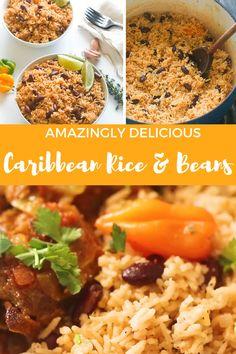 Jamaican Coconut Rice, Coconut Rice And Beans, Red Beans N Rice Recipe, White Rice Recipes, Coconut Milk Rice, Carribean Food, Caribbean Recipes, Healthy Caribbean Food, Healthy Eating Recipes