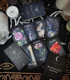 The Witches World Oracle, Oracle cards, oracle deck, indie deck, tarot Witchcraft Symbols, Traditional Witchcraft, Altar Cloth, Deck Of Cards, Card Deck, Oracle Cards, Watercolor Cards, Tarot Decks, Guide Book