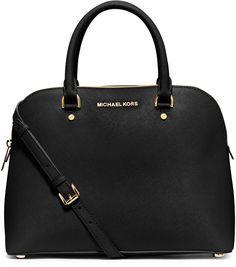 MICHAEL Michael Kors Cindy Large Dome Satchel Bag, Black