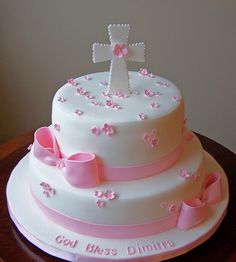 Girl baptism cake by cakespace - Beth (Chantilly Cake Designs), via Flickr