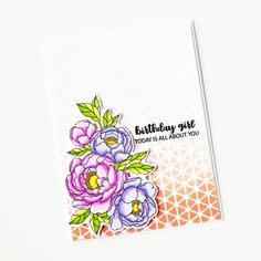 Measurements (all approximate): Peonies - x x Love Your Smile, My Love, Clear Stamps, Peony, Stencils, Triangle, Drawings, Birthday, Pattern