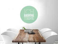 Walltattoo logo Vegan ' ' I respect ' ' lettering Wall sticker deco Sticker Wall Stickers Animals, Normal Wallpaper, Kitchen Quotes, Wall Tattoo, Nursery Wall Decals, Room Wall Decor, Diy Painting, Free Food, Lettering