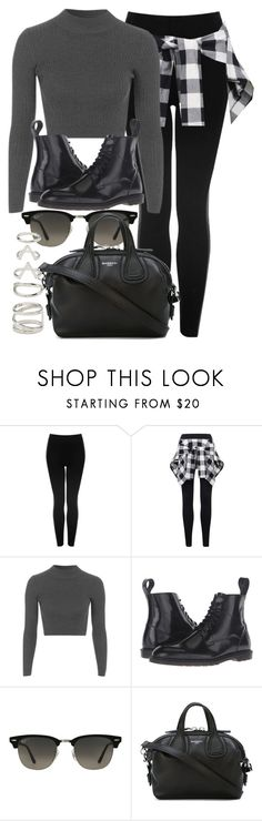 """""""Style #11207"""" by vany-alvarado ❤ liked on Polyvore featuring Topshop, Dr. Martens, Ray-Ban, Givenchy and Forever 21"""