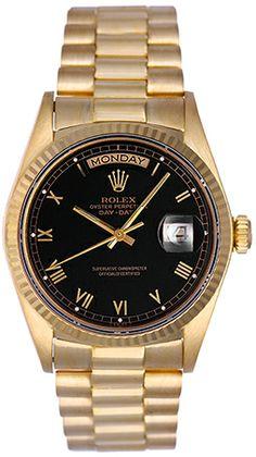 Men's Gold Day-Date Rolex President Watch 18038